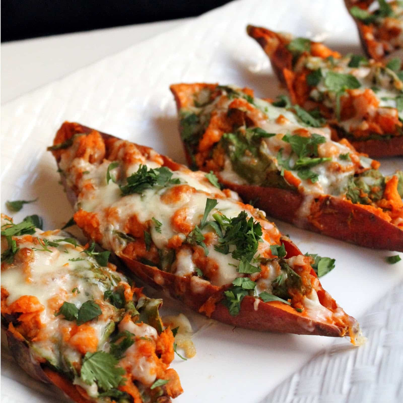 Baked Sweet Potato  chipotle twice baked sweet potatoes