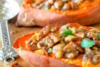 Baked Sweet Potato Fresh Twice Baked Sweet Potatoes with Pecan Streusel