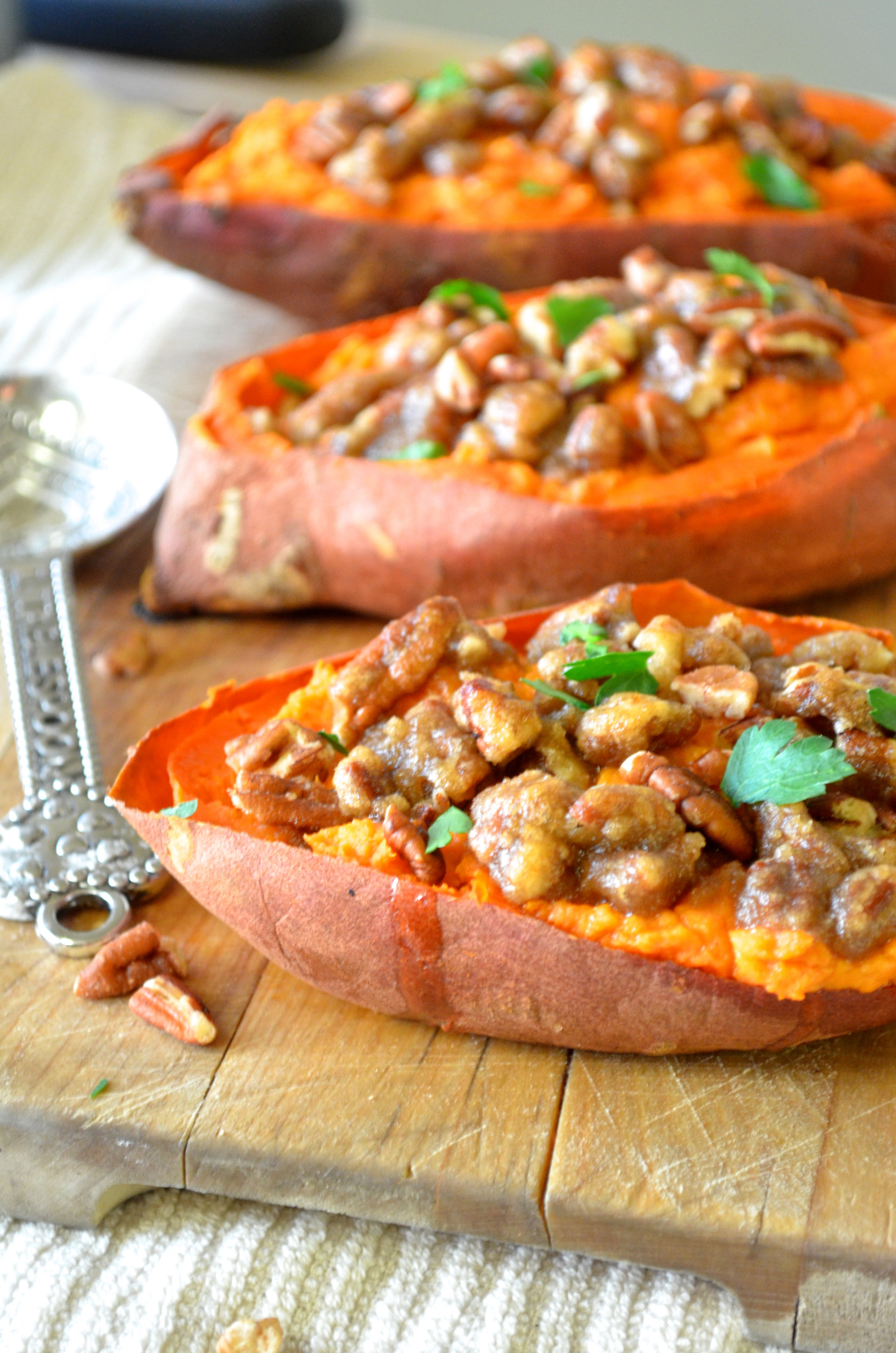 Baked Sweet Potato  Twice Baked Sweet Potatoes with Pecan Streusel