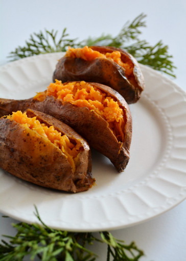 Baked Sweet Potato  cinnamon butter baked sweet potatoes – breaking bread xo