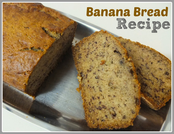 Banana Bread Recipe  Recipe Banana Bread Something on Everything