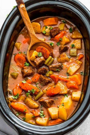 Beef Stew Recipe  Easy Old Fashioned Beef Stew Recipe Made in the Slow Cooker