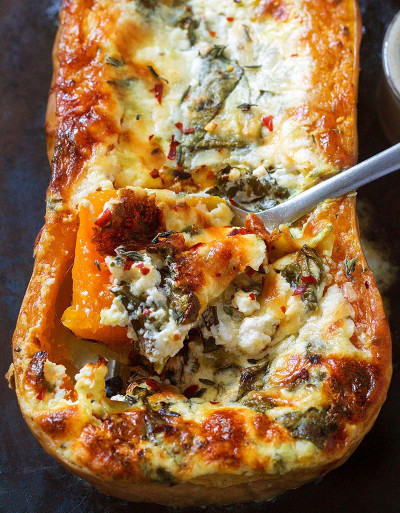 Butternut Squash Recipes Beautiful Creamy Four Cheese Spinach butternut Squash Recipe