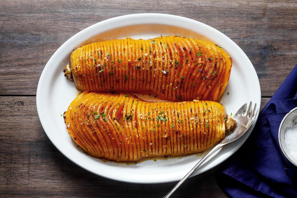 Butternut Squash Recipes Fresh Roasted butternut Squash with Garlic butter — Eatwell101