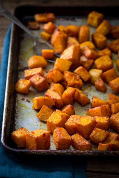 Butternut Squash Recipes  roasted butternut squash with smoked paprika and turmeric