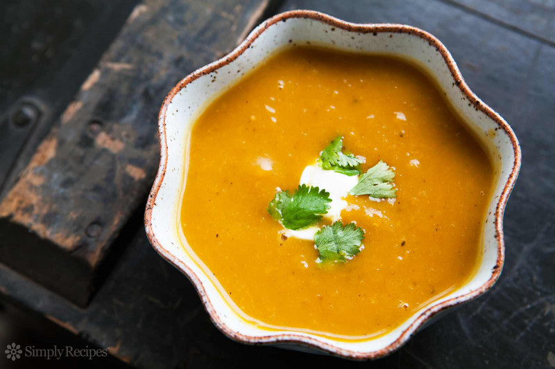 Butternut Squash Soup  Curried Butternut Squash Soup Recipe