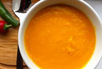 Butternut Squash soup Unique Roasted butternut Squash soup with Chilli Oil – Mean Miss