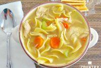 Chicken Noodle soup Elegant E Pot Chicken Noodle soup the Country Cook