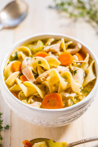 Chicken Noodle Soup  Easy 30 Minute Homemade Chicken Noodle Soup Averie Cooks