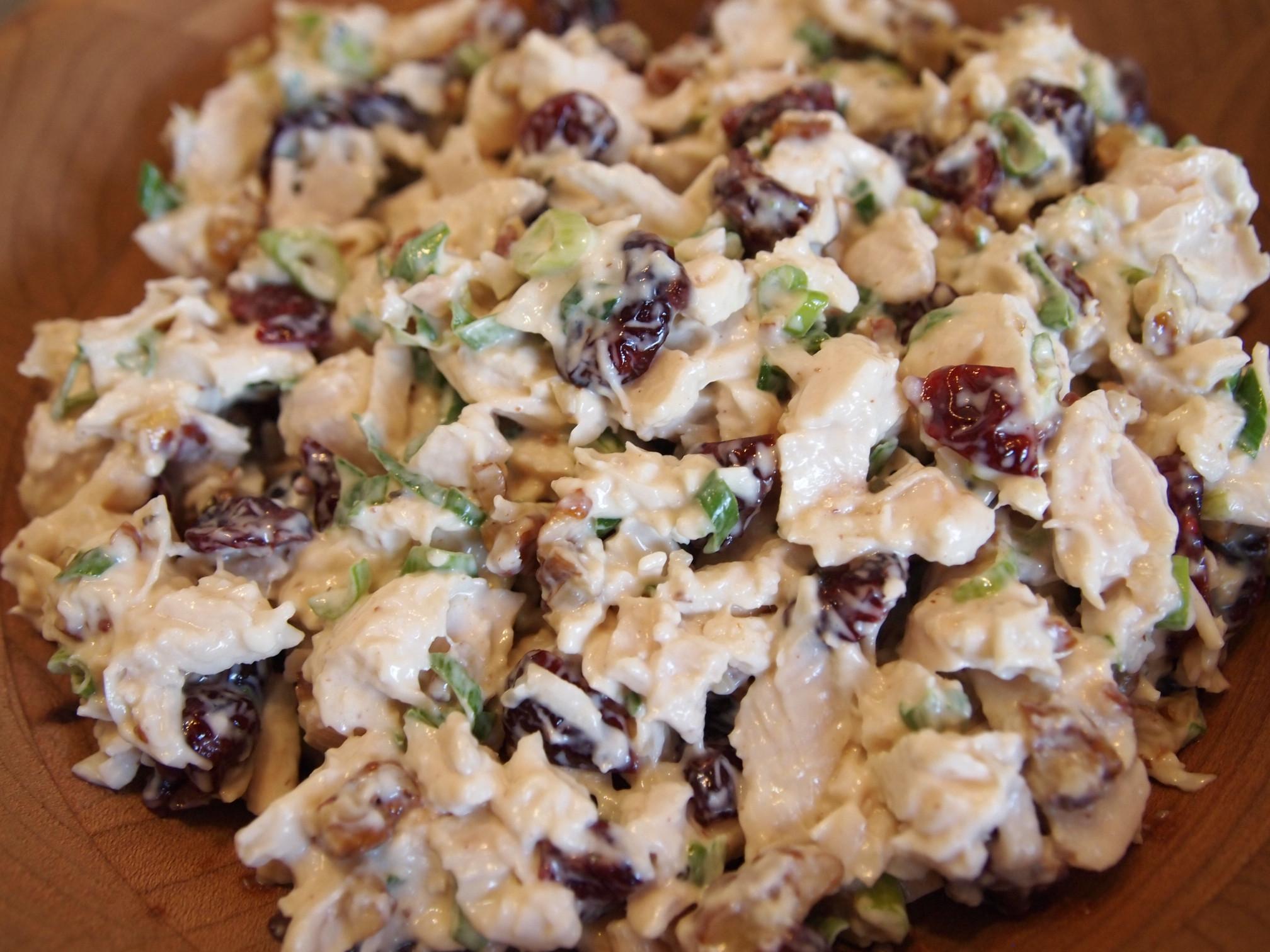 Chicken Salad Recipe  Chicken Salad Recipe with Cranberries & Pecans