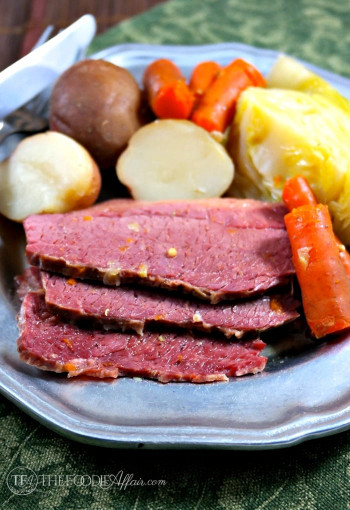 Corned Beef And Cabbage  Simple Corned Beef Cabbage Slow Cooked Recipe