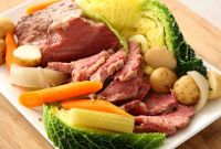 Corned Beef and Cabbage Lovely Boiled Corn Beef Brisket