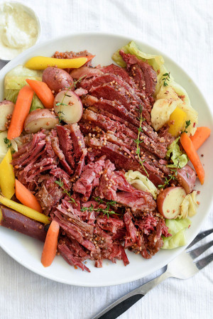 Corned Beef And Cabbage  Slow Cooker Corned Beef and Cabbage