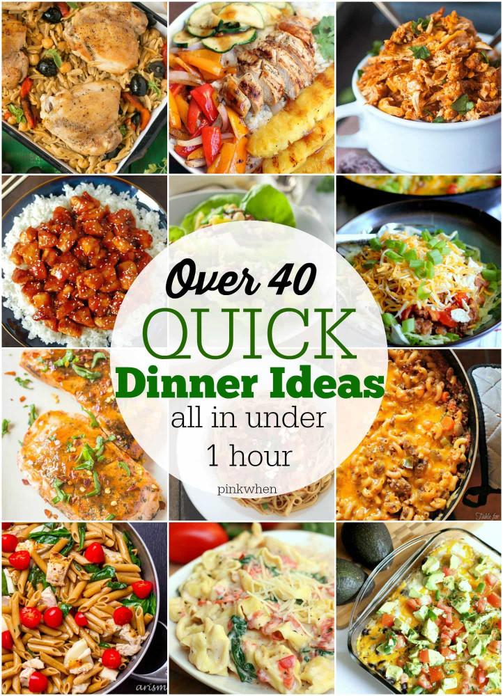 Easy Dinner Ideas  40 Quick Dinner Ideas PinkWhen