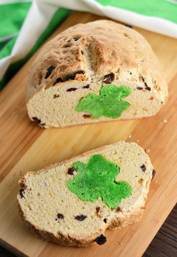 Irish Soda Bread  Hidden Shamrock Irish Soda Bread