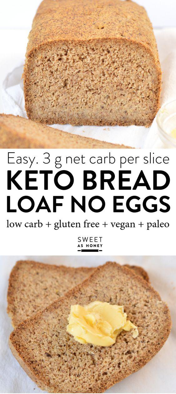 keto bread loaf no eggs + low carb