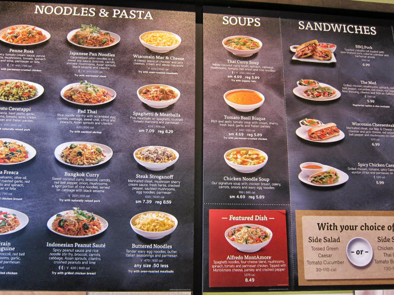 Noodles And Company Menu  Mami Eggroll Pad Thai sandwiches soups and more at