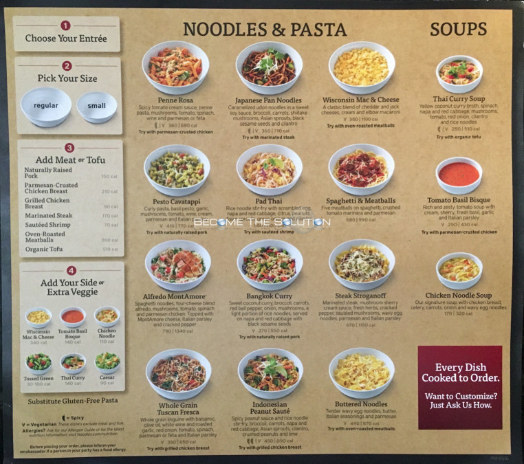 Noodles And Company Menu  nearest noodles and pany