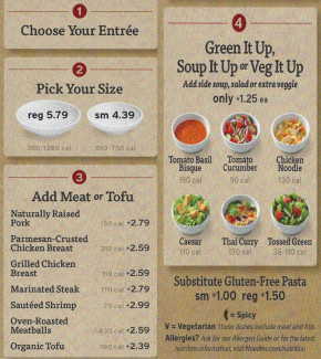 Noodles And Company Menu  noodles and pany menu prices