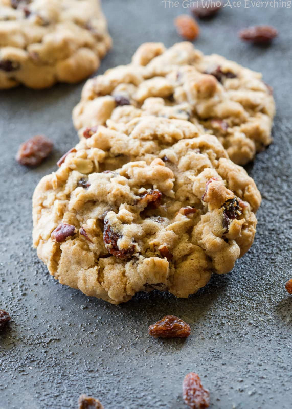 Oatmeal Raisin Cookies  Chewy Oatmeal Raisin Cookies The Girl Who Ate Everything