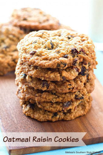 Oatmeal Raisin Cookies  Oatmeal Raisin Cookies melissassouthernstylekitchen