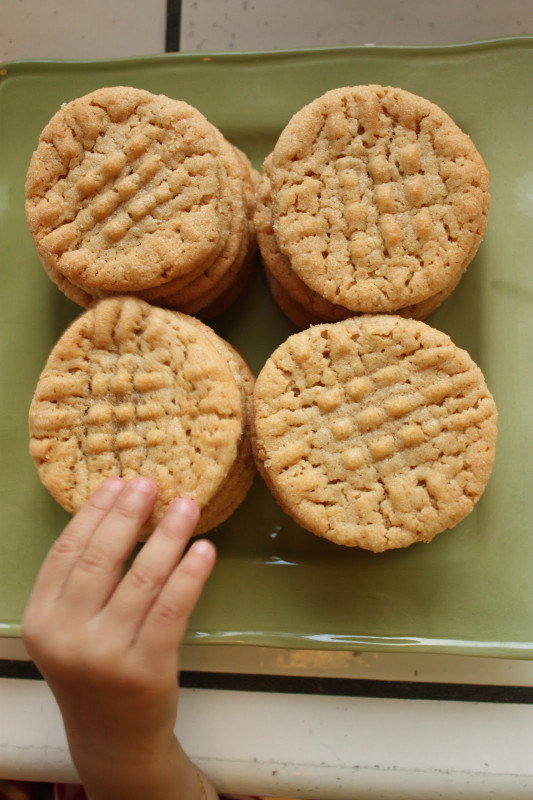 Peanut butter Cookies Beautiful Bake Along Peanut butter Cookies Littlelifeofmine
