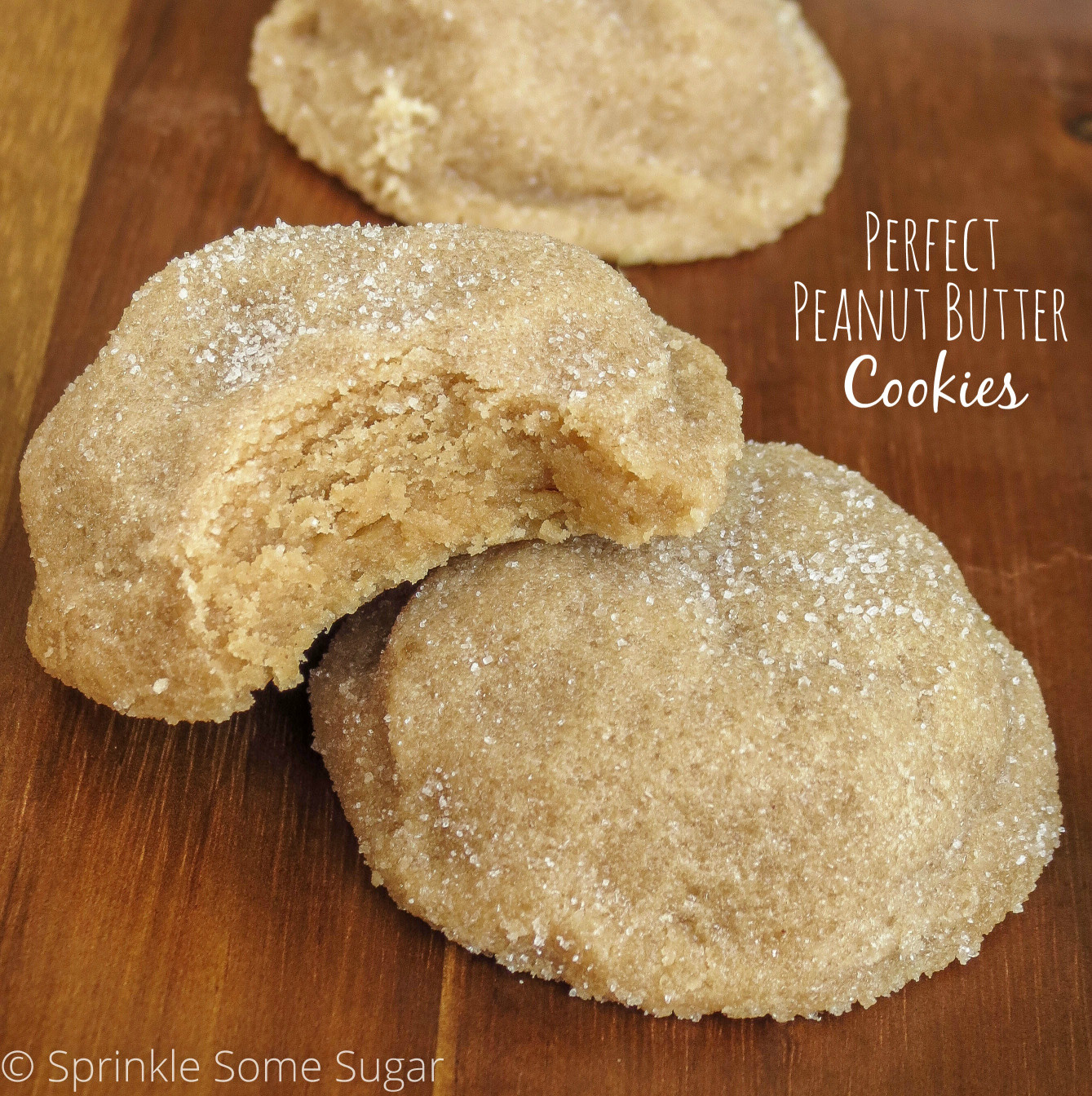 Peanut Butter Cookies  Perfect Peanut Butter Cookies Sprinkle Some Sugar