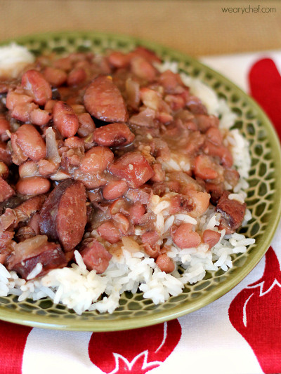 Red Beans And Rice  Slow Cooker Red Beans and Rice The Weary Chef