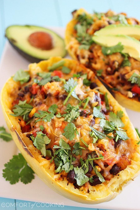Spaghetti Squash Recipes New southwestern Stuffed Spaghetti Squash