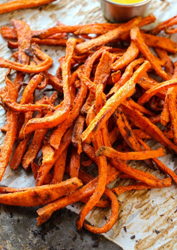 Sweet Potato Fries  Extra Crispy Baked Sweet Potato Fries Layers of Happiness