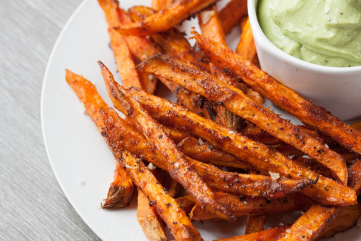 Sweet Potato Fries  Perfect Crispy Sweet Potato Fries • The Greedy Vegan