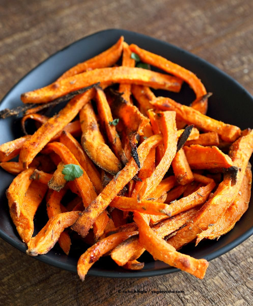Sweet Potato Fries  Baked Sweet Potato Fries with Chipotle Ranch Vegan Richa