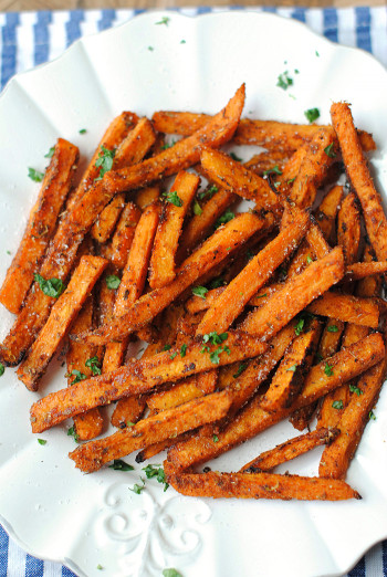 Sweet Potato Fries  Sweet and Spicy Sweet Potato Fries Eat Yourself Skinny