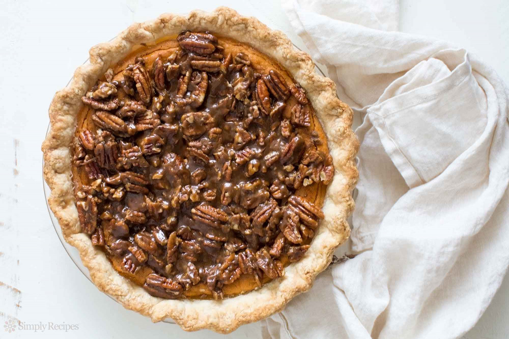 Sweet Potato Pie  Sweet Potato Pie with Pecan Topping