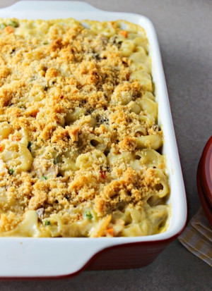 Tuna Noodle Casserole  Lighter Cheesy Tuna Noodle Casserole without Canned Cream