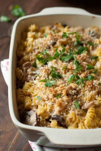 Tuna Noodle Casserole  Tuna Noodle Casserole LemonsforLulu