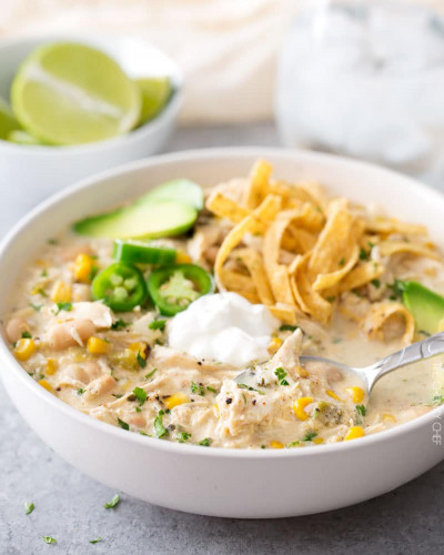 White Chicken Chili  Creamy Crockpot White Chicken Chili The Chunky Chef