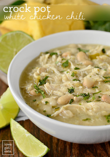 White Chicken Chili  Crock Pot White Chicken Chili Healthy Crock Pot Recipe