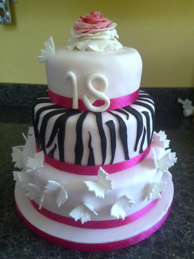 18th Birthday Cake Beautiful Girly 18th Birthday Cake