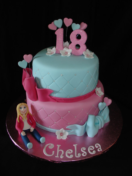 18Th Birthday Cake  18Th Birthday Fondant Cake CakeCentral