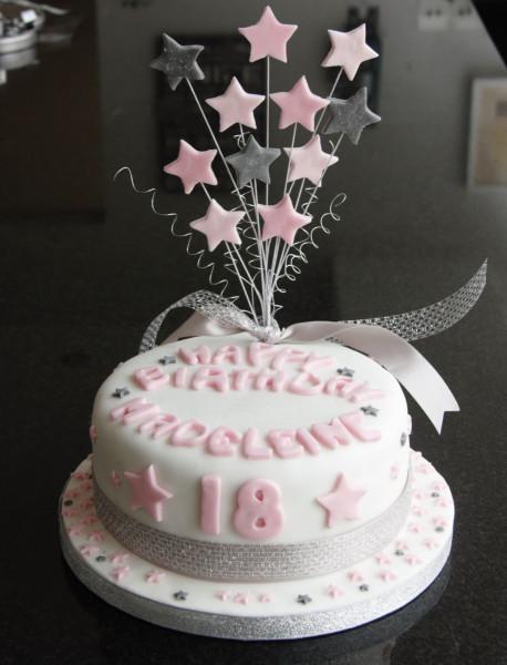 18Th Birthday Cake  18th Birthday Star Cake and Cupcakes – lovinghomemade
