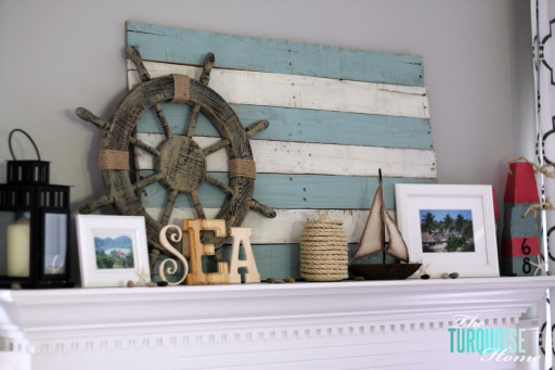 35 Captivating Mantle Beach themes Décor Ideas for Summer Unique My Summer Lake themed Mantel