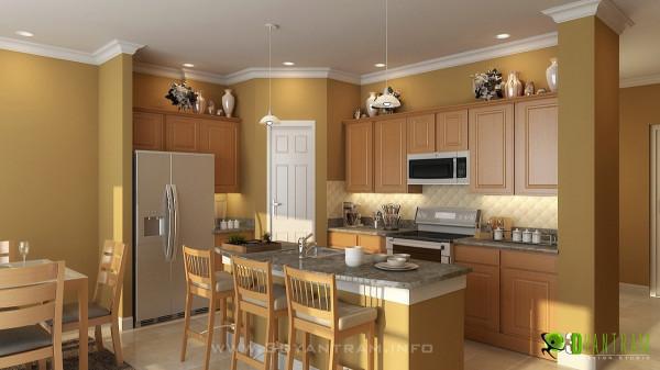 3D Kitchen Design  3D Kitchen Interior Design and Rendering on Behance