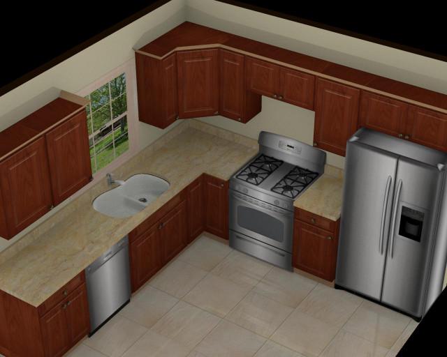 3D Kitchen Design  Foundation Dezin & Decor 3D Kitchen Model Design