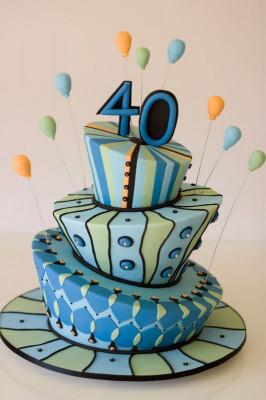 40th Birthday Cake Ideas Awesome 40th Birthday Cake Decorating Ideas