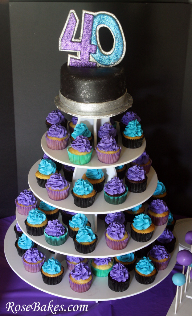 40Th Birthday Cake Ideas  40th Birthday Cake Cupcakes & Cake Pops A Party for my