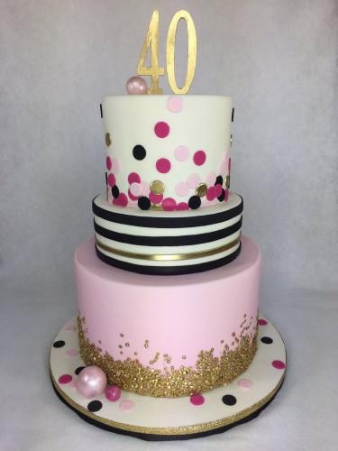 40Th Birthday Cake Ideas  Kate Spade inspired 40th Birthday Cake by Lettherebecake