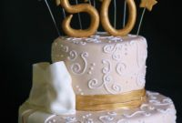 50th Birthday Cake New Pink Little Cake Gold and Light Ivory 50th Birthday Cake