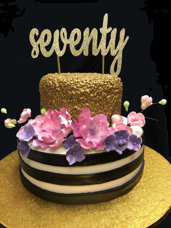70Th Birthday Cake  Seventy Birthday Cake Topper 70th Cake Topper 70 Birthday