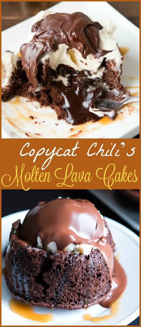 Copycat Chili's Molten Lava Cakes Recipe - Home ...